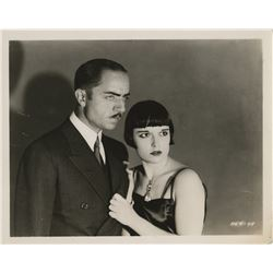 Louise Brooks portrait photograph with William Powell in The Canary Murder Case.