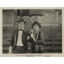 Buster Keaton (5) photographs from College including (1) in blackface.