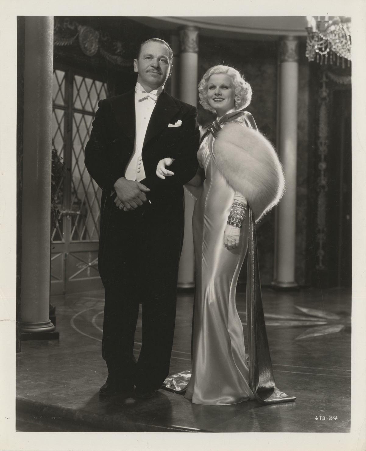24 x 30 Jean Harlow Scene from a Film Black Office Uniform Photo Print