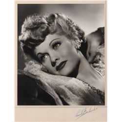 Lucille Ball oversize exhibition photograph signed by Ernest Bachrach.