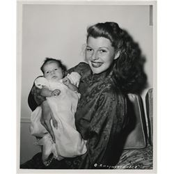 Rita Hayworth (7) special portrait photographs with infant daughter Rebecca Welles.