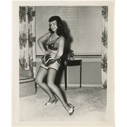 Bettie Page (8) pin-up photographs by Irving Klaw.