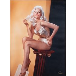 Jayne Mansfield monumental color portrait photograph by Wallace Seawell.