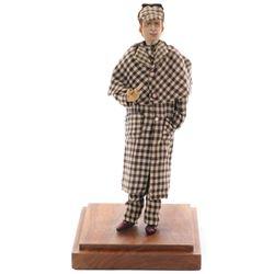 William Gillette as 'Sherlock Holmes antique doll'.