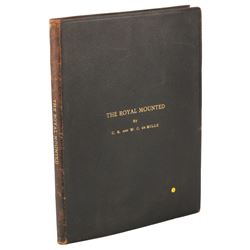 Cecil B. De Mille personal (2) bound play scripts - The Royal Mounted and The Land of the Free.