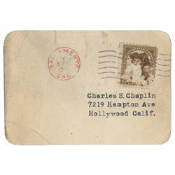 Charlie Chaplin's 1922 Motor Vehicle Driver's License.