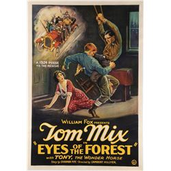 Tom Mix 1-sheet poster for Eyes of the Forest.