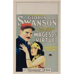 Wages of Virtue window card poster.