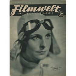Leni Riefenstahl collection of (14) vintage programs, photo-lobby cards, and more.