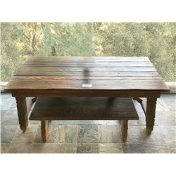 Douglas Fairbanks period style table and bench from The Iron Mask.