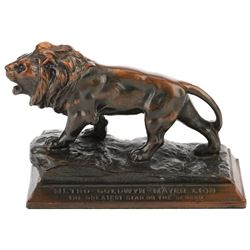 MGM Lion bronze studio desk paperweight.