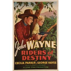 John Wayne 1-sheet poster for Riders of Destiny.