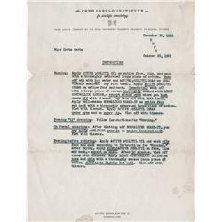 Greta Garbo personal skin care regimen document from pioneering dermatologist Erno Laszlo.