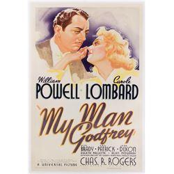 My Man Godfrey 1-sheet poster.