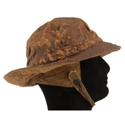 Spencer Tracy 'Manuel' fisherman rain hat from the storm scene in Captains Courageous.