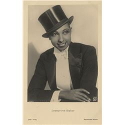Follies Bergère 1937 program starring Josephine Baker and (3) vintage post cards.