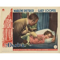 Marlene Dietrich and Gary Cooper (2) lobby cards for Desire.