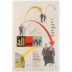 All About Eve 1-sheet poster signed by Bette Davis, Joseph Mankiewicz, and Celeste Holm.