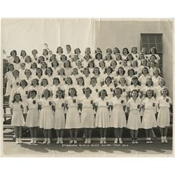 Marilyn Monroe personal teenage photograph – Norma Jeane with the Emerson Girl's Glee Club.