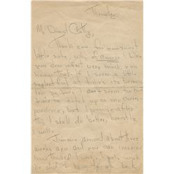 Marilyn Monroe extraordinary autograph letter signed as 'Norma Jeane' to her friend Cathy Staub.