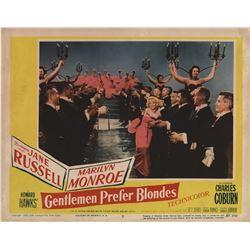 Marilyn Monroe 'Diamonds are a Girl's Best Friend' lobby card from Gentlemen Prefer Blondes.