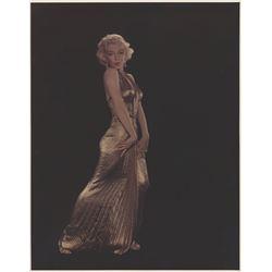 Marilyn Monroe glamour portrait photograph by Ed Clark for Life magazine.