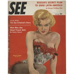 Marilyn Monroe (9) vintage cover-appearance magazines.