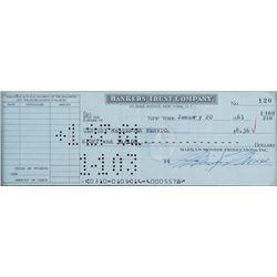 Marilyn Monroe bank check signed January 20, 1961.