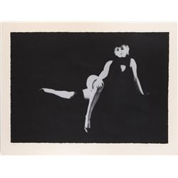 Marilyn Monroe 'Black Sitting 3' signed limited edition seriagraph by Milton Greene.