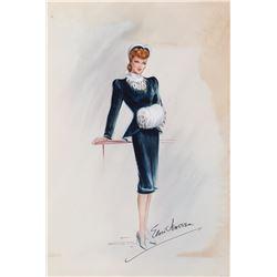 Lucille Ball costume sketch by Elois Jenssen.