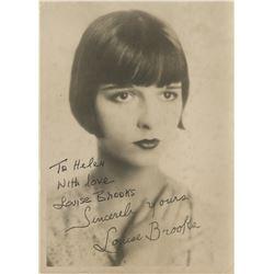 Louise Brooks signed studio fan photo.