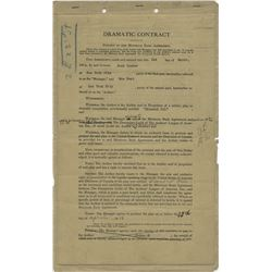 Mae West signed contract for the stage production of Diamond Lil.