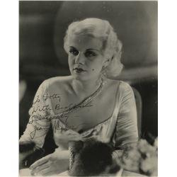 Jean Harlow rare signed photograph.