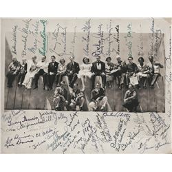 You Can't Take It With You cast signed photo including director Frank Capra.