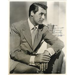 Cary Grant signed oversize portrait photograph.