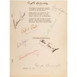 The Northwest Mounted Police shooting script signed by Cecil B. DeMille, Gary Cooper, and more.