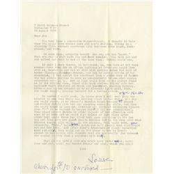 Louise Brooks typed letter regarding Marion Davies, Lili Damita, and scandalous lesbian escapades.
