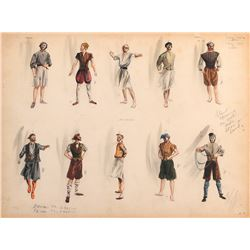 Plymouth Adventure (3) costume and character study sketches by Walter Plunkett.