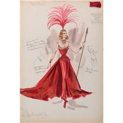 Tamara Toumanova 'Gaby Deslys' (2) costume sketches by Helen Rose for Deep in My Heart.
