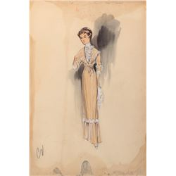 Jessie Royce Landis 'Princess Beatrix' (5) costume sketches by Helen Rose for The Swan.