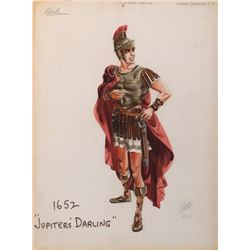 Gower Champion 'Varius' costume sketch by Helen Rose for Jupiter's Darling.