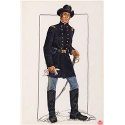 John Wayne 'Sheriff John T. Chance' costume sketch for Rio Bravo.