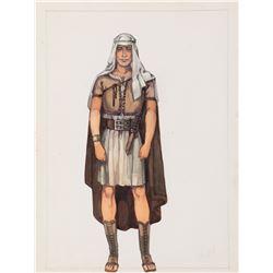Charlton Heston 'Ben Hur' costume sketch for Ben-Hur.