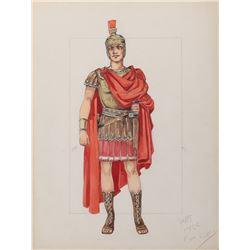 Stephen Boyd 'Messala' costume sketch by Valles for Ben-Hur.
