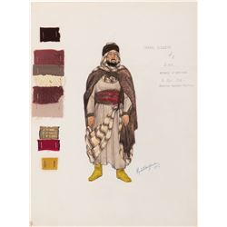 Hugh Griffith 'Sheik Ildirim' costume sketch for Ben-Hur.