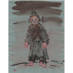 The Wonderful World of the Brothers Grimm collection of (12) costume sketches by Mary Wills.