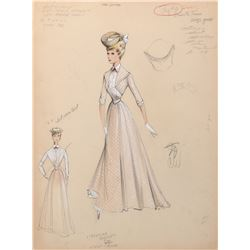 Doris Day 'Kitty Wonder' (3) costume sketches by Morton Haack for Billy Rose's Jumbo.