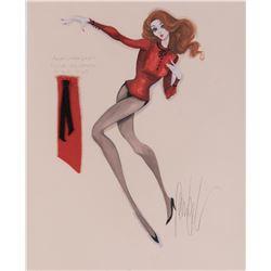Ann-Margret 'Rusty' costume sketch by Donfeld for Viva Las Vegas.