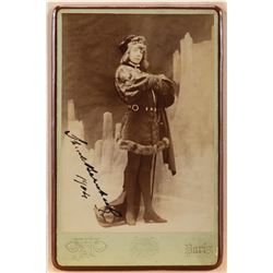 Collection of (3) vintage entertainment ephemera including 1-signed Sarah Bernhardt photograph.
