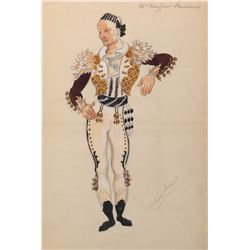 Douglas Fairbanks 'Don Juan' costume sketch by Oliver Messel for The Private Life of Don Juan.